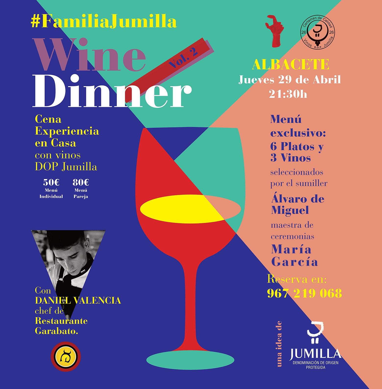 Jumilla WineDinner Rest. Garabato Albacete